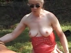 Absolutely perverted scat party in the woods with tones of crap